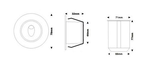 Светильник для подсветки ступеней B1QR круглый